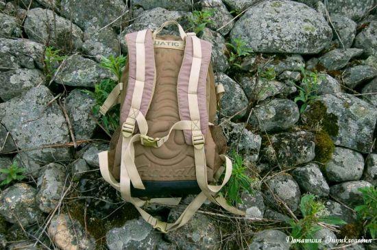 Рюкзак рыболовный Aquatic Р-40. Вид со стороны спины. Статьи о рыбалке. Снаряжение.