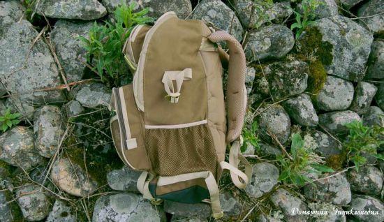 Рюкзак рыболовный Aquatic Р-40. Вид сбоку. Статьи о рыбалке. Снаряжение.