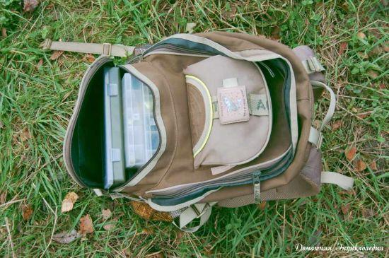 Рюкзак рыболовный Aquatic Р-40. Большой основной карман и верхний маленький. Статьи о рыбалке. Снаряжение.