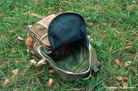 Рюкзак рыболовный Aquatic Р-40. Основное отделение. Статьи о рыбалке. Снаряжение.